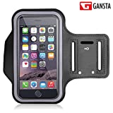 #6: Gansta Black Color Waterproof Sport Mobile Armband Case Cover For Running Jogging Gym & Universal Riding Sports Pouch Mobile Phone Bag for Men Women