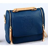 Heaven GH10025 Vintage Cross Body Bag for Women - Blue