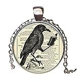 Raven Anhänger Halskette Kulturelle Haftung Vintage Halskette Silber Kette Choker Statement Halskette