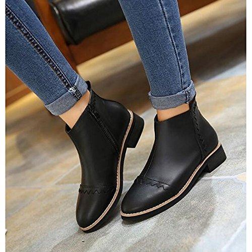 Chaussures à bout ouvert noires Casual homme PMG7u