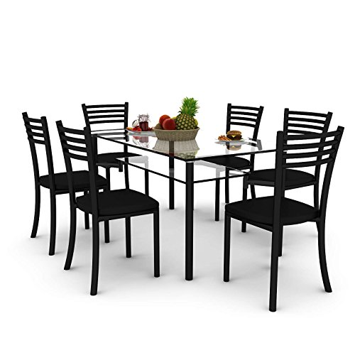 Housefull Orlin 100008370 Dining Table Set (Black)
