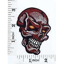 Llama ojos calavera fantasma Hog Outlaw motocicletas y para planchar parche bordado a mano coser símbolo