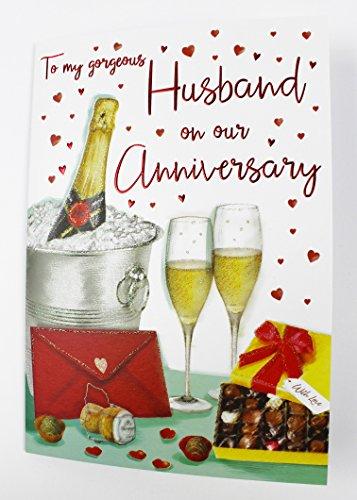 dding Anniversary Karte Love für Ihn Qualität Groß Vers (50 Wedding Anniversary Dekorationen)