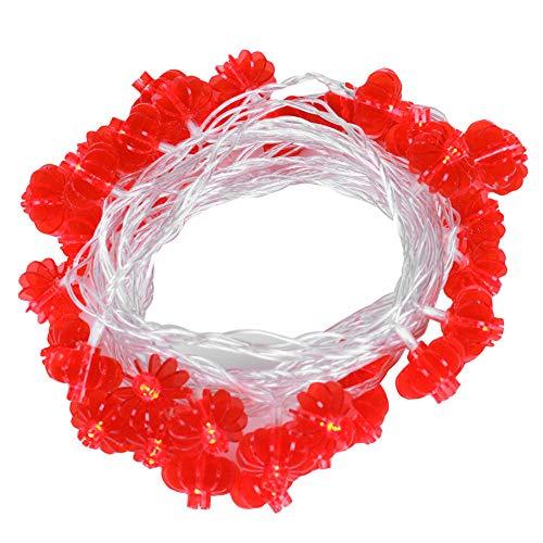 Led Batteriebetriebene Laterne Lichterketten Für Chinesisches Neujahrsfest House Party Dekoration Zubehör Rot 4Meters40Lamps (3Aa + Konstant Helles Flimmern) (Kinder Batteriebetriebene Fahrräder)