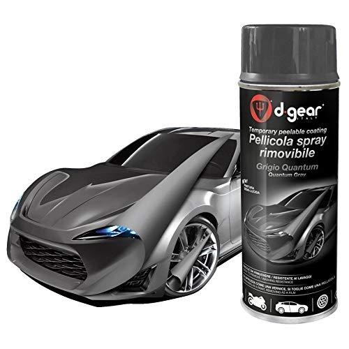 Lancer vernice pellicola spray rimuovibile removibile wrapping d gear 400ml + 1 adesivo da pc ricambi auto europa gratis (grigio quantum)