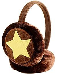 X-DAAO - Orejeras cálidas de Invierno para niños y niñas, de Felpa sintética marrón café