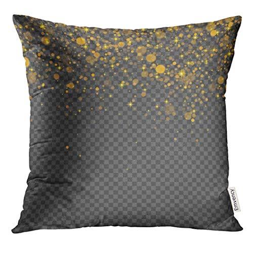 yuweishop Kissenbezug Happy The Emoji Yellow Face mit schwarzer Sonnenbrille und Lächeln Herz dekorative Kissenbezug Home Decor Square 18 x 18 Zoll Kissenbezug