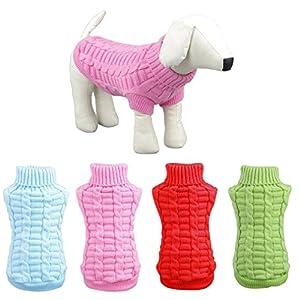 FUNOC Pull-overs Vêtement De Chandails Tricot Pulls Pour Le Petit Chien L'hiver(XS/S/M/L/XL/XXL)