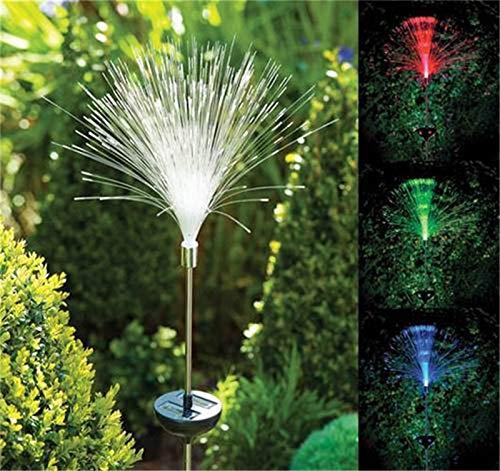 4 Stücke Solar Power Bunte Faser Lampe Solar Licht Weihnachten Garten Rasen Pin Garten Hof Dekorative Lichter