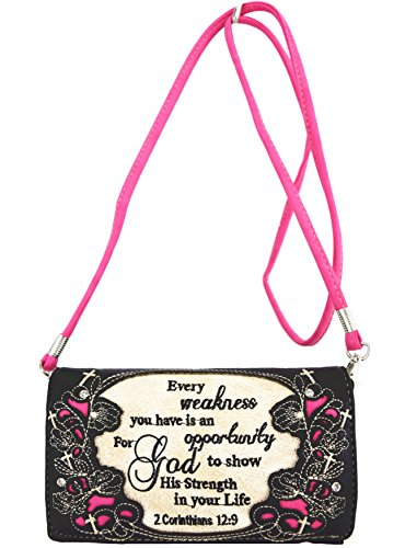 Blancho Biancheria da letto delle donne [Squisito occidentale] PU cinturino in pelle portafoglio cerniera borsa della carta fucsia Holder Combo-Fuchsia