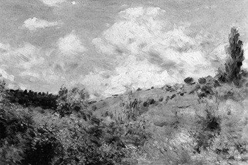 Bilderdepot24 Vlies Fototapete Pierre-Auguste Renoir - Alte Meister - Starker Wind - schwarz Weiss - 75x50 cm - mit Kleister - Poster - Foto auf Tapete - Wandbild - Wandtapete - Vliestapete -