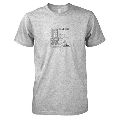 TEXLAB - Bluböks - Herren T-Shirt Graumeliert