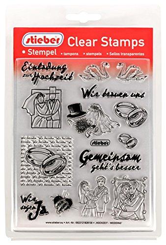 Clear Stamps Transparente Stempel Sets (bitte gewünschtes Motiv/Thema unten auswählen!) (HOCHZEIT - WEDDING) (Hochzeit Halloween-thema)