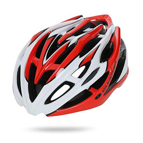 Fenverk Specialized Fahrradhelm Bike Helm Fahrradhelm Quatro Allmountain-Helm mit Größenverstellsystem für Erwachsene (J Rot)