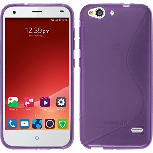 PhoneNatic Case für ZTE Blade S6 Hülle Silikon lila S-Style Cover Blade S6 Tasche Case