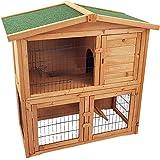 Hasenstall LOPPEL 1 mit 2 Etagen und Rampe Kaninchenstall aus FSC Holz Kaninchenkäfig Hasenkäfig Käfig Stall
