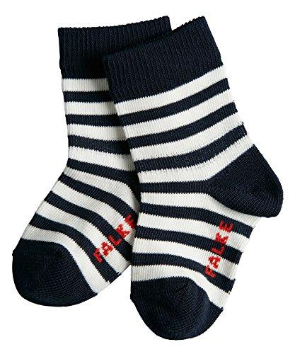 FALKE Unisex Baby Socken Stripe, Marine, 74-80