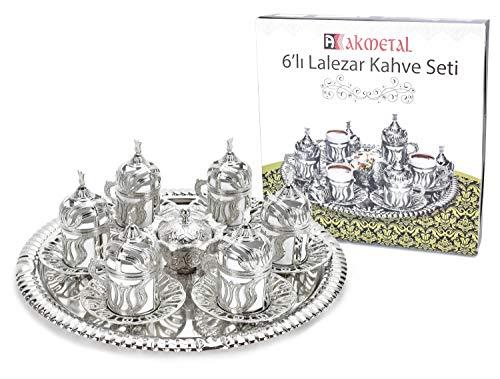 TruWare Mokkaset Mokkaservice Mokka Tassen Porzellan Türkisches Kaffee Set Cafe Kahve SETI 6 Tassen
