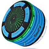 BassPal Shower Speaker, IPX7 Waterproof Portable Wireless Bluetooth 4.0 Speakers with Super Bass and HD Sound, Perfect Speaker for Beach, Pool, Kitchen & Home (Blue)