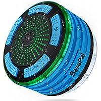 BassPal Radios de Douche, Haut-Parleur Bluetooth IPX7 portable entièrement étanche à l'eau avec, super basse et son HD, Haut-Parleur parfait pour plage, piscine, cuisine et maison (Bleu)