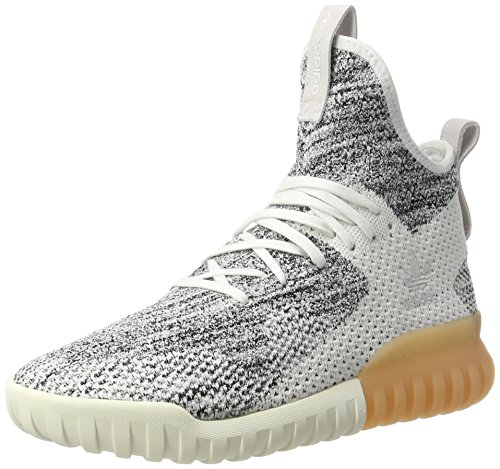 adidas Unisex-Erwachsene Tubular X Primeknit Sneakers, Weiß (Crystal White/Grey One/Core Black), 44 EU