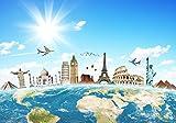 Fototapete Weltreise Erde M 250 x 175 cm - 5 Teile Vlies Tapete Wandtapete - Moderne Vliestapete - Wandbilder - Design Wanddeko - Wand Dekoration wandmotiv24