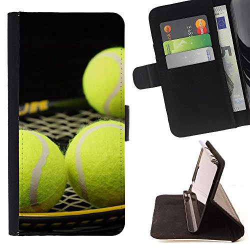 Graphic4You Tennis Ball Sport Brieftasche Leder Dünn Hülle Tasche Schale Schutzhülle für LG G7 ThinQ -
