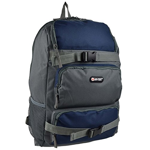 Mens Ragazzi Handy borsa zaino da Hi-Tec scuola lavoro viaggio nero Dark Grey/Blue (Grandpas Ragazza)