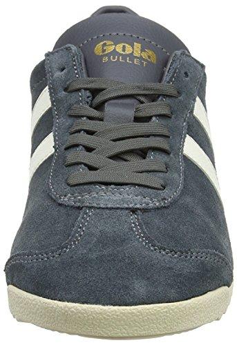 Gola Bullet Suede, Sneaker Donna Grigio (Graphite/off White Xg)
