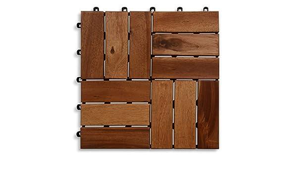 Casa pura piastrella per terrazzo in legno di acacia certificato
