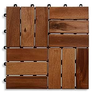 Casa PuraTerrassenfliese aus Akazien-Holz zertifiziert