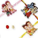 Madhur Set of 3 Elegant Kids Rakhis (Madhur3228)
