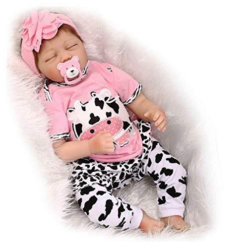 22' Vrai Vie Reborn Baby Dolls 55cm Suave Vinilo de Silicona Reborn Lifelike Muñecas Bebé Recién Nacido Regalo de Juguete Muñecos Bebé