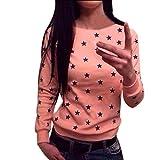 Ineternet Femmes manches longues étoile Imprimer Sweat-shirt Pull Tops