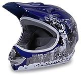 Actionbikes Motors Motorradhelm X-Treme Kinder Cross Helme Sturzhelm Schutzhelm Helm für Motorrad Kinderquad und Crossbike (Blau, S)