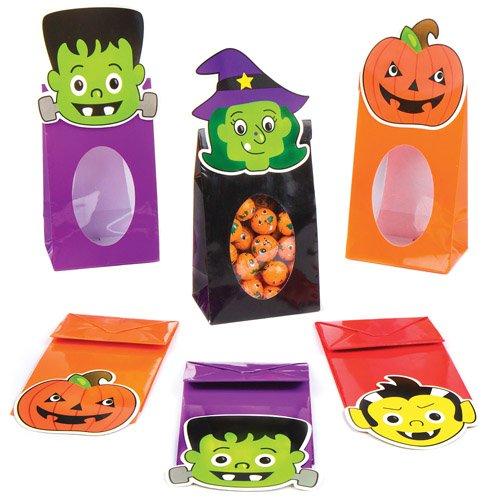 -Tüten als lustiges Spielzeug für Kinder zum günstigen Preis - perfekt als kleine Party-Überraschung für Kinder zu Halloween (8 Stück) ()