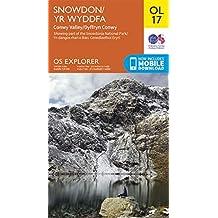 OS Explorer Map OL 17 Snowdon/Yr Wyddfa, Conwy Valley/Dyffryn Conwy