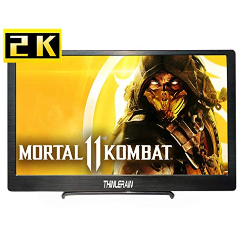 13,3 Zoll Tragbarer Monitor 2k 2560×1440 Gaming Monitor IPS HDMI USB Schnittstelle Eingebauter Lautsprecher für PS4 PS3 Xbox Switch Raspberry Pi Windows 7/8/10 PC Laptop, Thinlerain - Computer-monitor 7 Windows