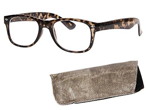Alsino Lesebrille Lesehilfe klar Augenoptik Brille Sehhilfe mit Stärke, DPT Stärke:+2.50;wählen:RG-103 beige