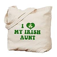 CafePress - I Love My Irish Aunt Tote Bag - Natural Canvas Tote Bag, Cloth Shopping Bag