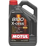 Motul 8100 X-Cess 5W-40 API SN/CF Fully Synthetic Gasoline and Diesel Engine Oil (4 L)