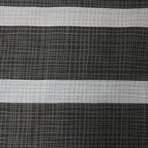 Just Contempo Contemporary Striped Checkered Reversible Duvet Cover Set, Grey, Double