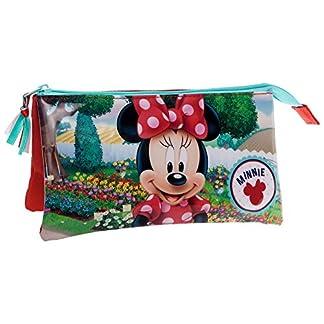 Disney Minnie Garden Neceser de Viaje, 1.32 litros, Color Rojo
