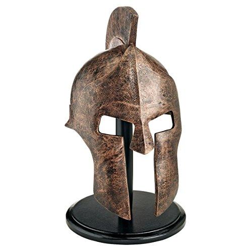 Design Toscano Griechisch-spartanische Helmkorinthische Rüstung Statue, Polyresin, Bronze-Finish, 30,5 x 9 x 40,5 cm - Polyresin Bronze-finish