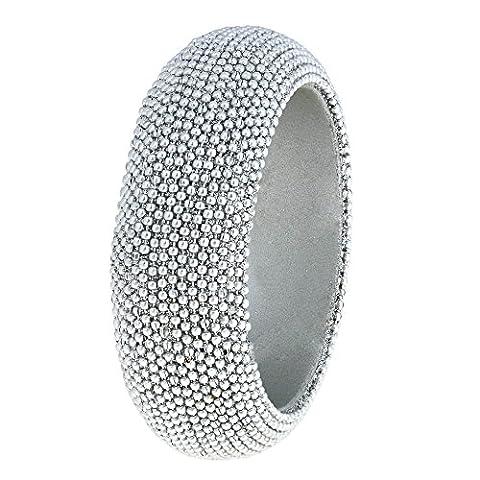 Jewellery Silver Beaded Bangle Bracelet Handmade in India