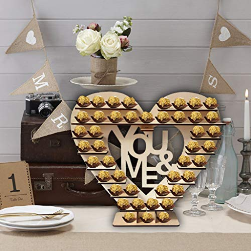 Tianranrt chocolate stand candy bar mr \u0026 mrs heart visualizza centrotavola decorazioni per matrimoni