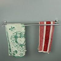 XXTT-Spazio alluminio asciugamani, piccolo Fang Jiaoping Portasciugamani doppio, argento singola barre portasciugamani