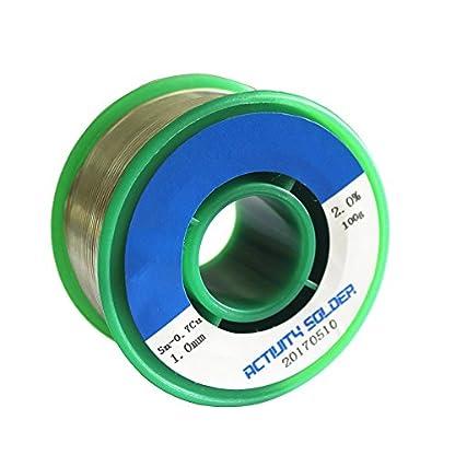 Estaño para soldar 1mm Hilo de soldadura electronica sin Plomo con Núcleo de Resina Sn99% Ag0.3% Cu0.7% 100g
