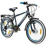 20 Zoll MTB Jugendfahrrad Galano Adrenalin Kinderfahrrad Mountainbike, Farbe:Schwarz / Blau