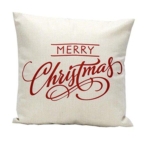 ubabamama 2Weihnachten Kopfkissen, Bettwäsche quadratisch Überwurf Flachs Kissen Fall dekorative Kissenbezug Home Dekoration